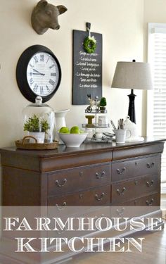 Adding Farmhouse Style To The Kitchen And Dressers Aren't Just For Bedrooms - Worthing Court
