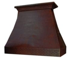 """Custom Made Copper Hood """"Sacramento"""" Model Sacramento can be used for a gas or electric range in any high ceiling kitchen to add colonial flavor. #mycustommade"""