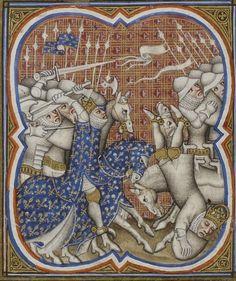 Grandes Chroniques de France. Auteur : Maître du couronnement de Charles VI…