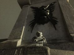 City Hall of Tilburg Gargoyle. Lego Minifigures 14 Monsters Gargoyle photographed at night in October at the City of Tilburg in Tilburg to celebrate Halloween #CityHallOfTilburgGargoyle #LegoMinifigures14Monsters #LegoMinifigures14 #Lego14 #Gargoyle #night #October #CityHallOfTilburg #Tilburg #CityHall #PaleisRaadhuis #Paleis #Raadhuis #Netherlands #Nederland #Halloween