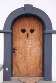 Cool owl door!  #flo