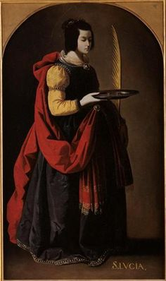 Saint Lucy Portable Battery Charger for Sale by Zurbaran Francisco de Spanish Painters, Spanish Artists, Santa Lucia, Christian Images, Christian Art, Religious Paintings, Religious Art, Caravaggio, Francisco Zurbaran