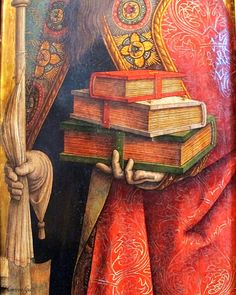 CARLO CRIVELLI (1435 – 1495) | Detail - St. Augustine.