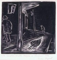 A Morte do Guarda Chuva 1937 Oswaldo Goeldi  Projeto Goeldi - www.oswaldogoeldi.org.br