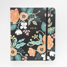 Make 2016 plans in this floral planner.