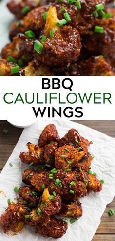 These meatless BBQ Cauliflower Wings are perfect for Game Day! These meatless BBQ Cauliflower Wings are perfect for Game Day! High Protein Vegetarian Recipes, Vegetarian Recipes Dinner, Healthy Recipes, Vegan Dinners, Whole Food Recipes, Cooking Recipes, Bbq Vegetarian, Grilled Vegan Recipes, Vegetarian Wings