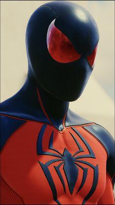 Black Spiderman, Spiderman Art, Amazing Spiderman, Marvel Dc Comics, Marvel Heroes, Scarlet Spider, Avengers Wallpaper, Black Panther Marvel, Marvel Characters