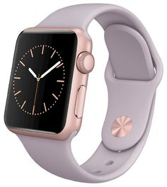 Apple® Watch 38mm Rose Gold Aluminum Case with Lavender Sport Band