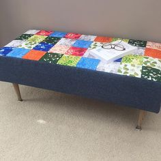 """""""Another Sew/Snow Day project completed. The Patchwork Bench from Anna Graham's book, Handmade Style. Made using The Lovely Hunt Fabric + Essex Linen. Class on how to make the bench at the shop on March 13th. Details on website. @noodlehead531 @lizzyhouse @andoverfabrics #handmadestylebook #noodleheadpatterns #thelovelyhunt #essexlinen #trailerstashclass"""" Photo taken by @trailerstashfabrics on Instagram, pinned via the InstaPin iOS App! http://www.instapinapp.com (01/26/2016)"""