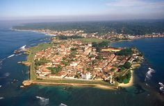 Galle, Sri Lanka - at the southernmost tip of the island, and boasting colonial architecture and several greens.