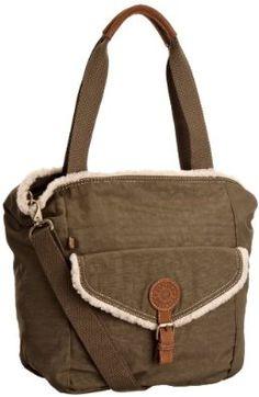 Kipling Women's Adaia A4 Shoulder Bag Khaki Wool K12227488,£82.00
