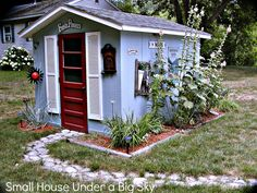 french cottage gardens | This is an adorable garden shed next door to Ann's cottage.