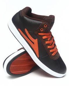 Lakai   Guy Hi Xlk Black Leather Aw Sneakers. Get it at DrJays.com