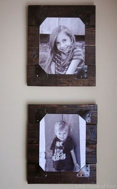 Turn old wood pallets into rustic picture frames in a few simple steps with help from Little House of Four. Use sheet metal to decorate the edges and plexiglass to protect your photos. Make more than one and create a photo gallery in a hallway or the living room or even give one as a gift!