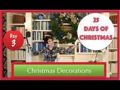 Decorate a Bookcase & Wreath for Christmas | 3rd Day of 25 Days of Christmas 2015! - YouTube