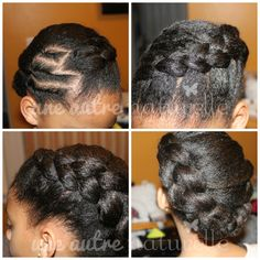 Side dutch braid on #naturalhair - great ur style for children with natural hair, curly, or textured hair.