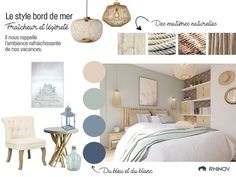 What are the codes of seaside decor? Home Staging, Interior Design Living Room, Living Room Decor, Bedroom Wall, Bedroom Decor, Seaside Decor, Style Deco, Bedroom Colors, My Room