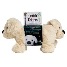 @DavidandColleen Dietrich:   Buddy the Dog - Crutch Critters  Best invention ever made.