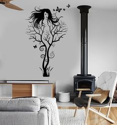 Wall Sticker Vinyl Decal Abstract Hot Sexy Girl Tree Modern Cool Decor (ig1867)