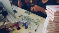 Il team al lavoro per preparare i Filo di Groupon! Work in progress for Groupon's branded Filo! sales@filotrack.com
