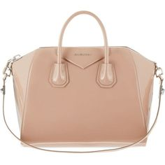 GIVENCHY Antigona medium patent leather tote ($2,295) ❤ liked on Polyvore featuring bags, handbags, tote bags, purses, bolsas, givenchy, cherry, oversized tote bags, zippered tote bag and man bag