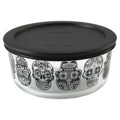 I NEED THIS!! Pyrex Halloween Day of the Dead  4 cup Storage