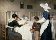 La visita de la madre al hospital - Colección - Museo Nacional del Prado PATERNINA GARCÍA CID, ENRIQUE Haro, La Rioja, 1866 - Haro, La Rioja, 1917