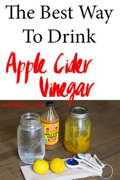 Check out the best, easiest, tastiest way to get your daily apple cider vinegar into your diet. RealDelites.com