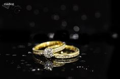yellow gold solitaire and matching band made in-house by in Nundah Village North Brisbane Fine Jewelry, Jewelry Making, Jewellery, Brisbane, Diamond Engagement Rings, Wedding Rings, Jewels, Band, Yellow