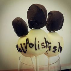 Nail Polish Cake Pops....Created by Www.Anniemaescheesecakes.com