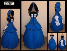 Full bustle TARDIS gown