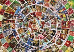 worldwide stamps around the world mailart from Tofu, San Fransisco.