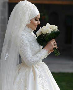 Muslim Wedding Dresses, Muslim Brides, Wedding Dresses For Girls, Bridal Dresses, Bridesmaid Dresses, Muslim Girls, Bridal Hijab, Hijab Bride, Wedding Hijab