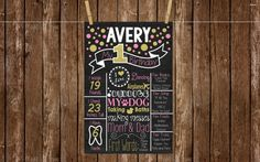 *** Birthday Chalk-Board Printable***   Digital File Only- Glitter Polka Dot Birthday Chalkboard Printable  IMPORTANT DETAILS: YOU WILL GET: One