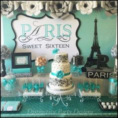 Sweet-Sixteen-Paris-Style-Birthday-Dessert-Buffet