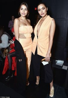 Two of a kind! Olivia Culpo and Madson Beer were coordinated with their own outfits at the Cushnie Et Ochs fashion show on Friday