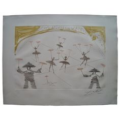 Salvador Dali Etching, Lithograph, Aquatint, Signed Pencil from Series Circus   From a unique collection of antique and modern prints at https://www.1stdibs.com/furniture/wall-decorations/prints/