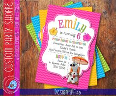 FROZEN SUMMER Printable INVITATION Custom by CustomPartyShoppe, $10.00