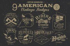 American Vintage Badges by Opus Nigrum on Business Brochure, Business Card Logo, Cafe Logos, Logos Ideas, Ink Stamps, Pencil Illustration, Graphic Illustration, Logo Templates