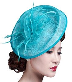 1969f52f5dd45b Party Fascinator Hair Clip Pillbox Hat Cocktail Kentucky Derby Hat for  Ladies, http:/