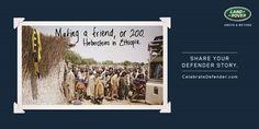 "#AdoftheWeek 1 July 2015: ""The Land Rover legacy #CelebrateDefender."" #CelebrateDefender making a friend or 200."