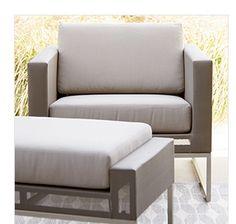 Dune Lounge Chair with Sunbrella® Taupe Cushion