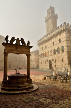 The atmospheric Montepulciano in Tuscany, Italy (via pinterest.com/MyItalyandMe)