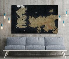 Game Of Thrones Map Tv Series Canvas Print