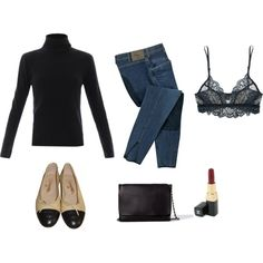 """""""Black"""" by trenchcoatandcoffee on Polyvore"""