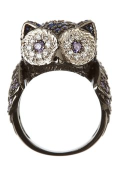 Owl Ring by Kenneth Jay Lane on Owl Jewelry, Jewelry Box, Jewelery, Jewelry Accessories, Funky Jewelry, Owl Ring, Owl Always Love You, Cute Owl, At Least