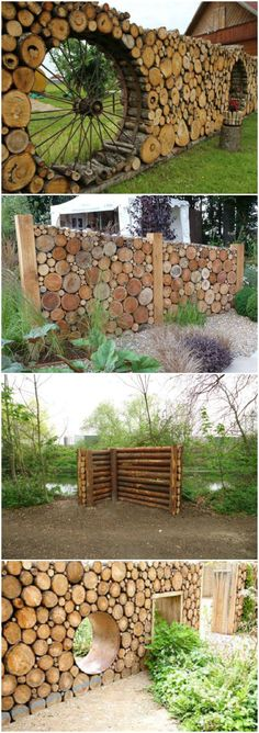 Amazing Shed Plans - Cordwood fences More Now You Can Build ANY Shed In A Weekend Even If You've Zero Woodworking Experience! Start building amazing sheds the easier way with a collection of shed plans! Garden Fencing, Garden Art, Home And Garden, Inside Garden, Outdoor Projects, Garden Projects, Garden Ideas, Terrace Ideas, Cedar Wood Fence