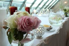 Bridal flowers can make the perfect decor if styled right :)