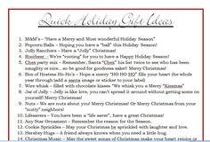 Great saying for little Secret Santa gifts