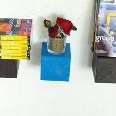 Wood Shelf mini cube square wall floating shelf by MustHaveRo Wood Shelves, Floating Shelves, Cube, Handmade Gifts, Shelf, Etsy, Colors, Home Decor, Green